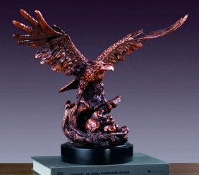 Bronze Eagle W/two Babies