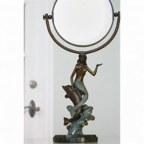 Mermaid & Dolphin Mirror