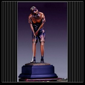 Bronze Lady Golfer