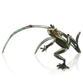 Rainforest Frog With Ladybug