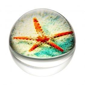 Art Glass Starfish Paperweight