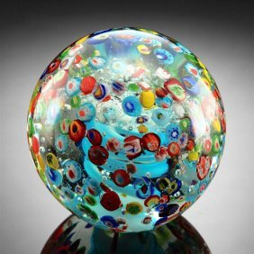 Confetti Sphere / Paperweight