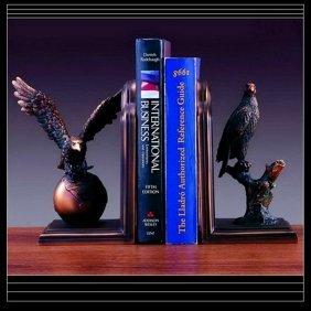 Bronze Eagle Bookends
