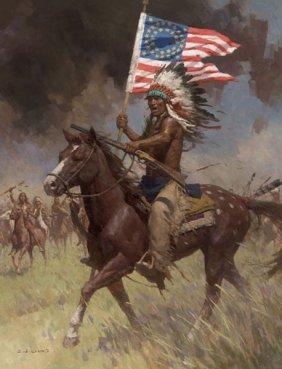 Z.s. Liang - Lakota Warriors, Little Big Horn, June 25,