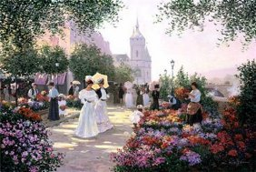 Christa Kieffer - Flower Market Along The Seine