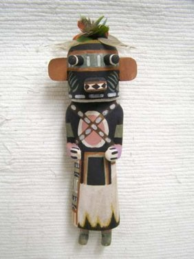 Old Style Hopi Carved Bear Traditional Powerful Warrior