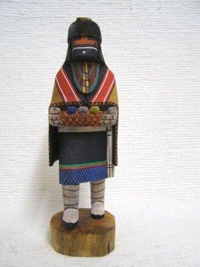 Native American Hopi Carved Spider Woman Weaver Katsina