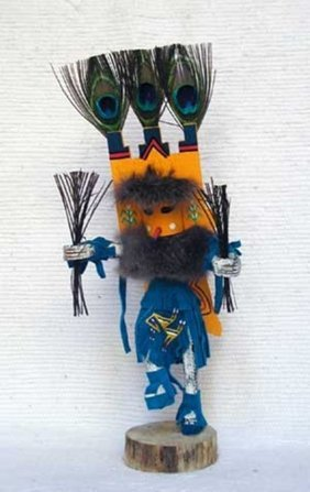 Native American Navajo Made Butterfly Kachina Doll