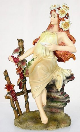 Autumn Maiden From Four Seasons By Mucha