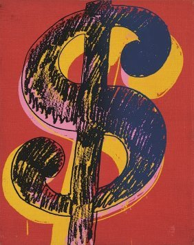In The Manner Of Andy Warhol. Dollar Sign, 1981 (black