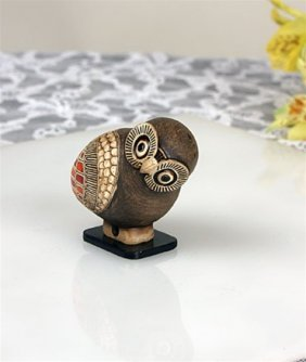 Greek Owl Miniature Statue
