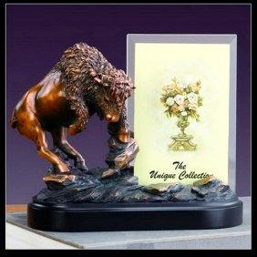Bronze Buffalo Picture Frame