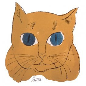 "In The Manner Of Andy Warhol. Cat From ""25 Cats Named"