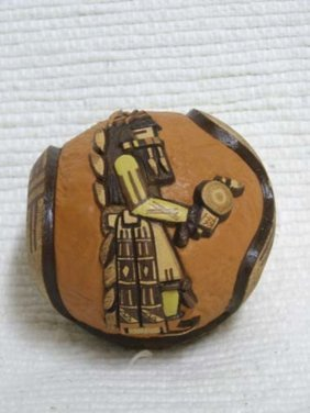 Native American Hopi Handbuilt And Handcarved Small