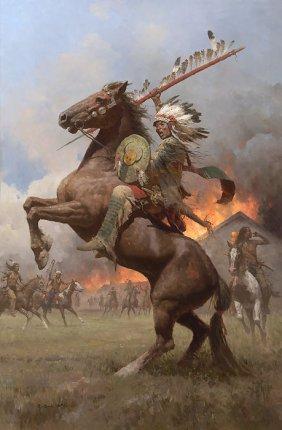 Z.s. Liang - Cheyenne Burning Of Fort Phil Kearney,1868