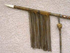 Native American Tohono O'odham Made Old Style War Lance