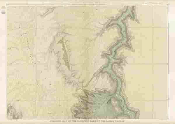 Clarence E. Dutton - Grand Canyon - Geologic Map Of The
