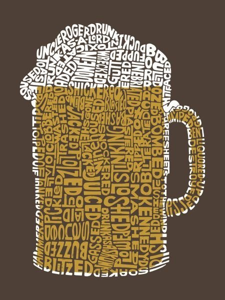 """L.A. Pop Art.  Beer (Popular Terms for Being """"Drunk"""")"""
