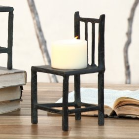 Rustic Chair Medium Candleholder