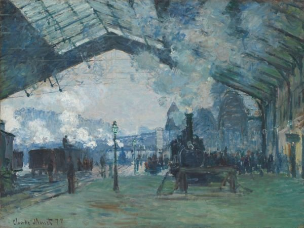 Claude Monet.  Arrival  of the Normandy Train, Gare