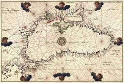 Battista Agnese - Portolan Or Navigational Map Of The
