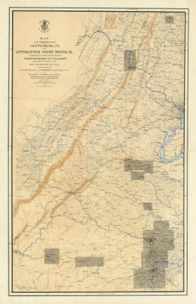 United States War Department - Civil War Map Of The