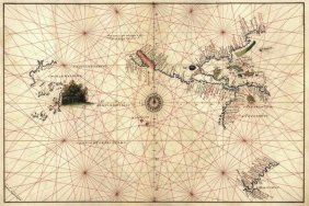 Battista Agnese - Portolan Map Of The Western