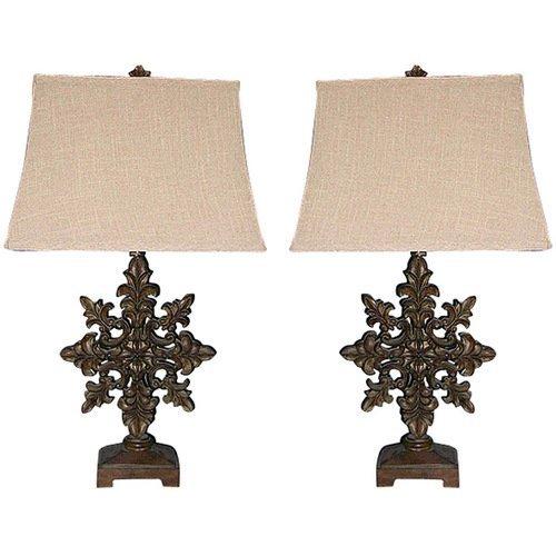 Scroll Lamp - Set Of 2