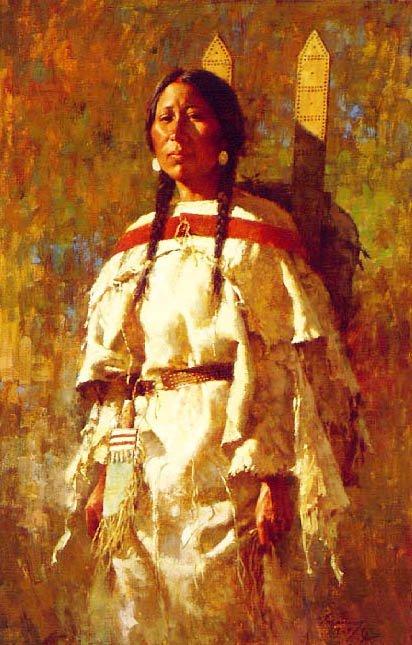 Howard Terpning - CHEYENNE MOTHER