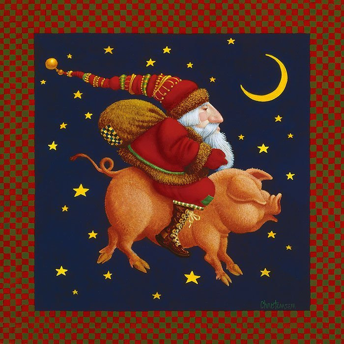 James C. Christensen - The Christmas Pig