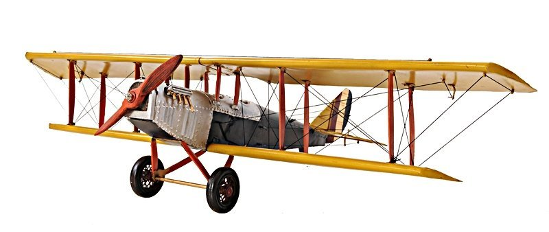 Yellow Curtis Jenny Plane 1:18