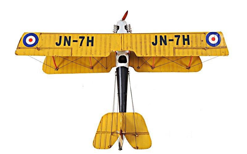 Yellow Curtis Jenny Plane 1:18 - 2