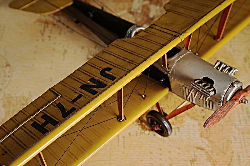 Yellow Curtis Jenny Plane 1:18 - 3