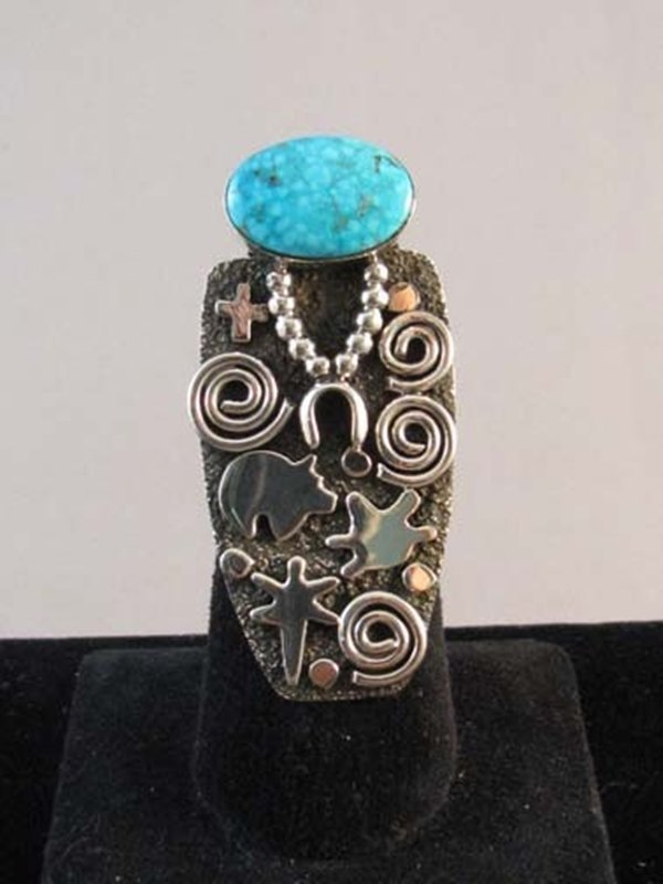 Native American Zuni/Navajo Made Grandmother Ring with