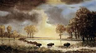 Albert Bierstadt - The Buffalo Trail, 1867