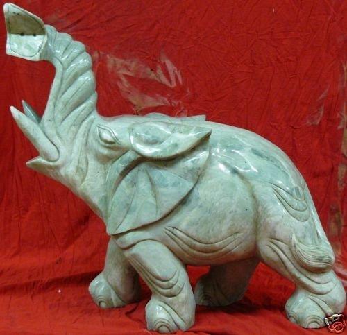 Large Jade Elephant