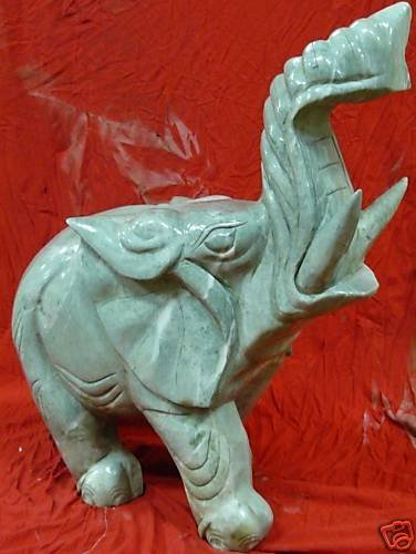 Large Jade Elephant - 3