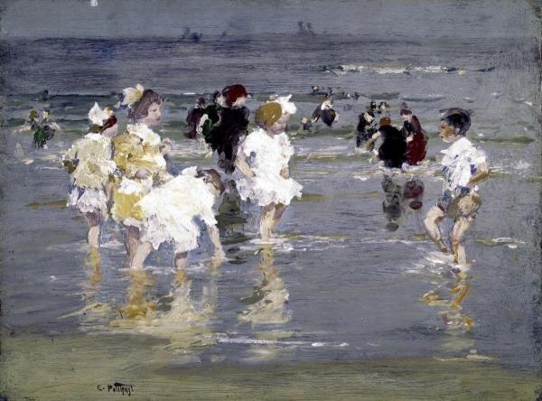 Edward Henry Potthast - Children On The Beach