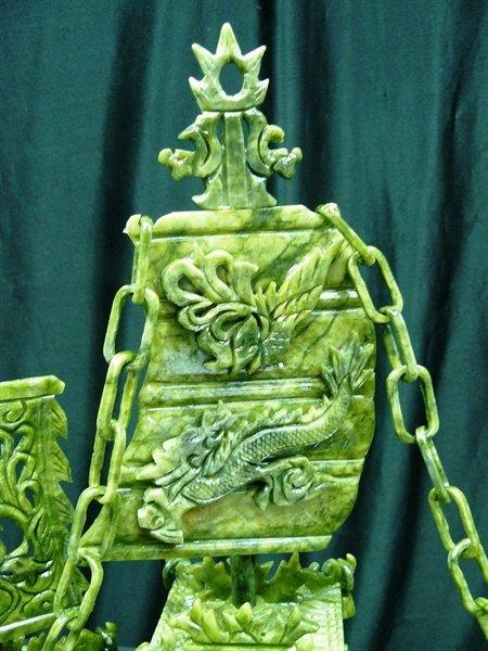 "24"" Green Jade Dragon Boat - 2"