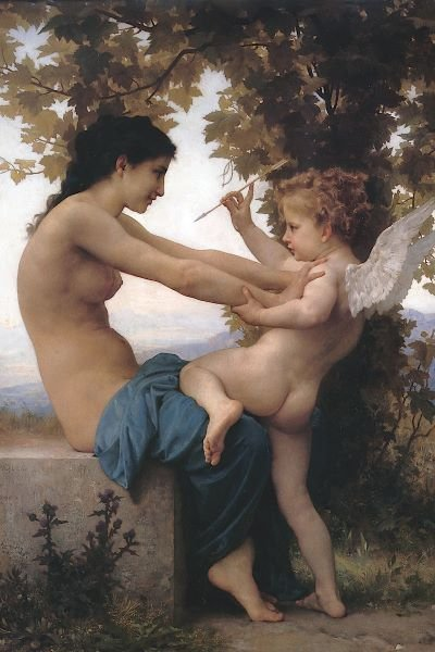 William-Adolphe Bouguereau.  Girl Defending Herself