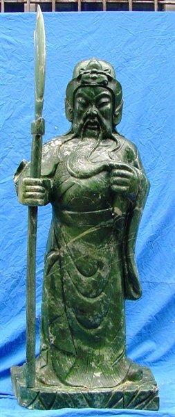 Large Jade Standing General Kwan / Warrior