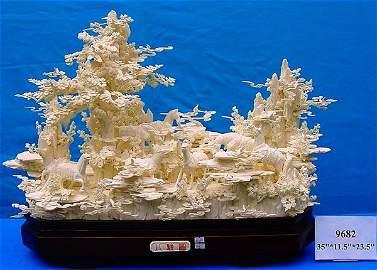 Bone 8 Saddled Horses Mountain