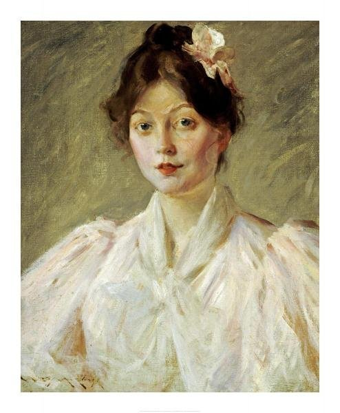 William Merritt Chase - Young Woman In Pink