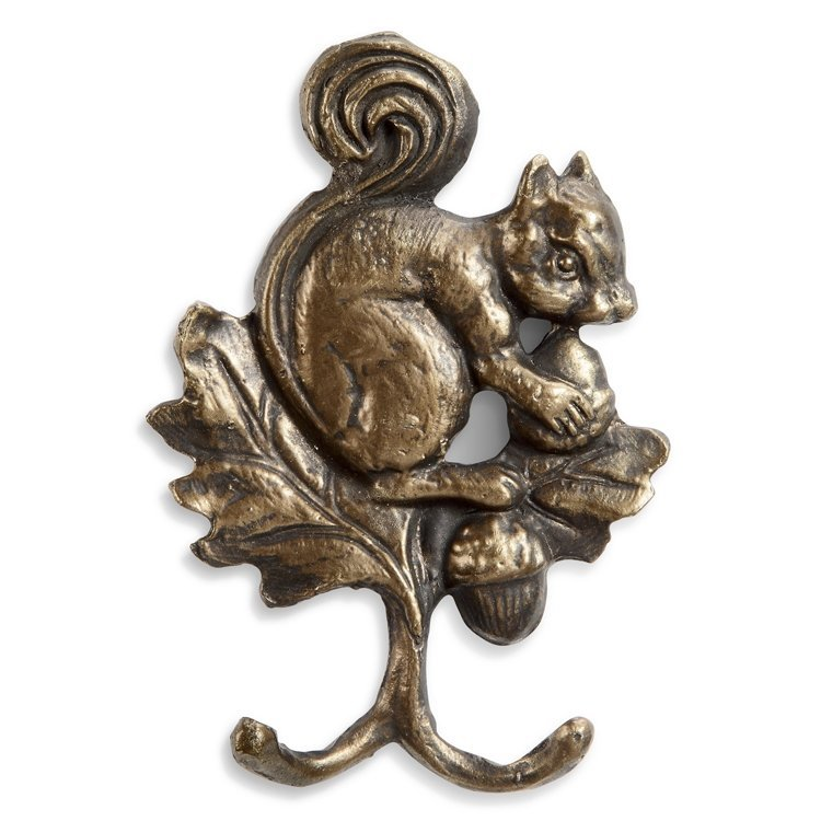 Squirrel and Acorns Wall Hook