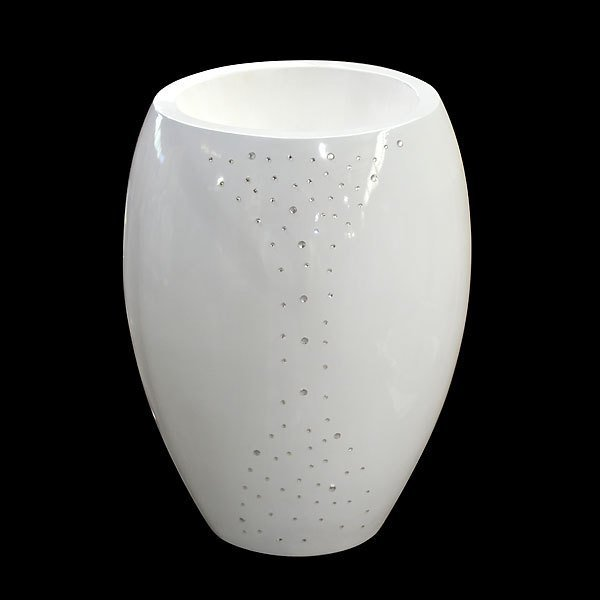 Crystal Grand White Vase
