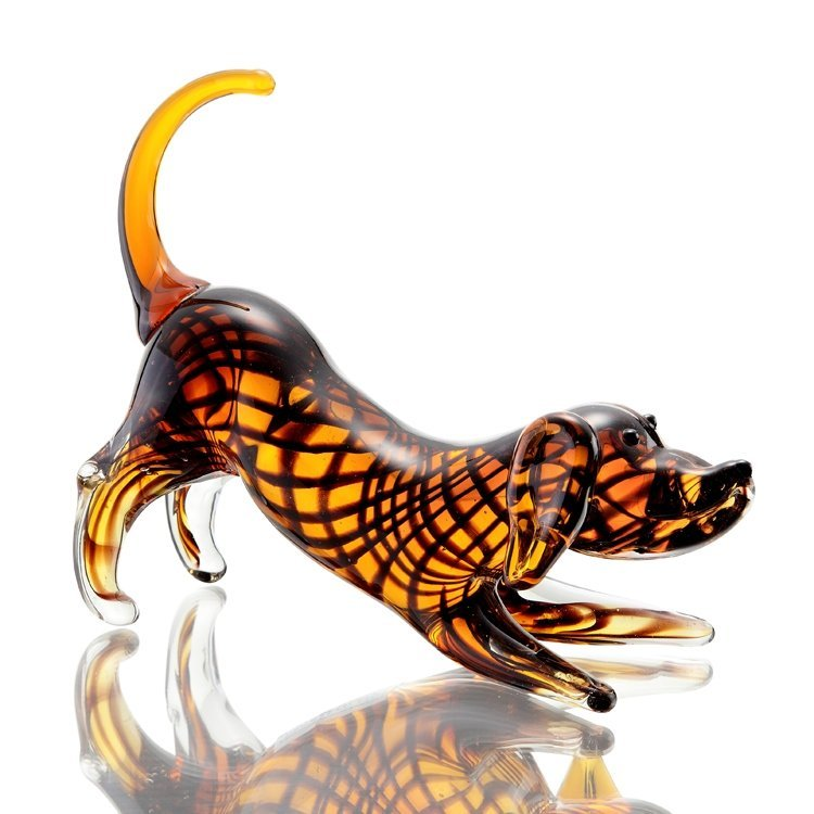 Art Glass Wiener Dog