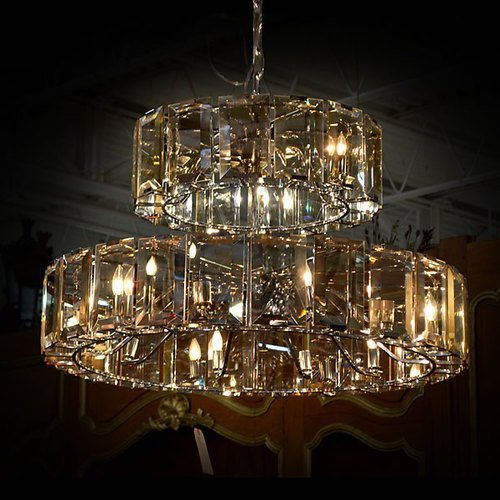 Champagne 2 Tier Chandelier