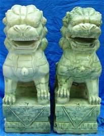 """28"""" Light Green Jade Foo Dogs"""