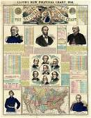 H.h. Lloyd - The National Political Chart, Civil War,