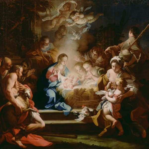 Sebastiano Conca - The Adoration Of The Shepherds